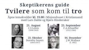 Skeptikerens guide: Tvilere som kom til tro @ Misjonshuset i Kristiansand