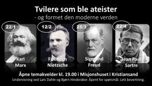 AVLYST 25/3-Skeptikerens guide: Tvilere som ble ateister @ Misjonshuset i Kristiansand